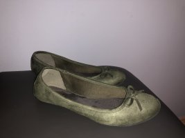 Graceland Mary Jane Ballerinas green grey-khaki