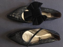 AGL Patent Leather Ballerinas dark blue