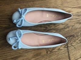 Pretty ballerinas Bailarinas con tacón Mary Jane azul celeste