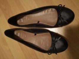 H&M Ballerina di pelle verniciata nero