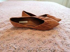H&M Premium Ballerinas with Toecap brown-cognac-coloured