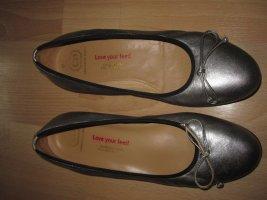 Ballerinas in Silber Leder/ Christian Dietz