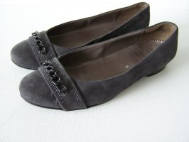Jenny Peep Toe Ballerinas dark grey leather