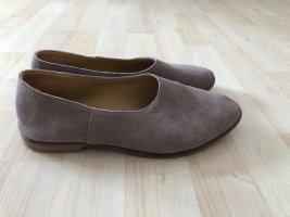 Kiomi Ballerina's met kant grijs-bruin