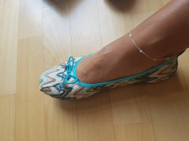 Foldable Ballet Flats turquoise-olive green