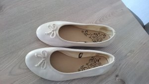 Patent Leather Ballerinas natural white