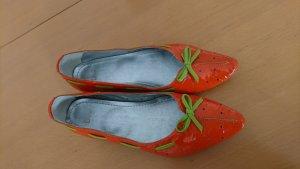 Ballerinas, orange, Erdbeere  D+V