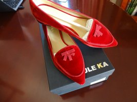 Paule ka Ballerinas with Toecap brick red leather