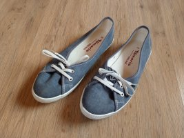Tamaris Mary Jane Ballerinas white-steel blue