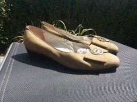 Bally Bailarinas con tacón Mary Jane marrón arena