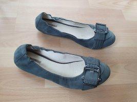 Geox Ballerines à lacets gris-gris foncé