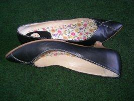 Zapato Ballerina a punta nero Pelle