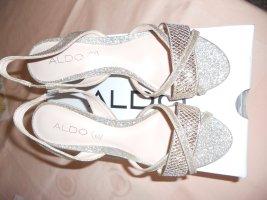 Aldo Hoge hakken sandalen goud kunststof