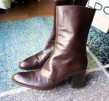 Bally Echtleder Leder Stiefel Designer braun Gr. 38 vintage wie NEU!