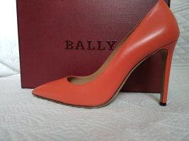 Bally Tacco alto rosso mattone Pelle