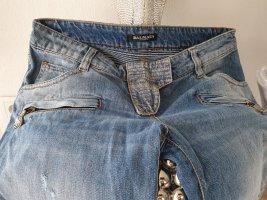 Balmain Pantalone a vita bassa azzurro