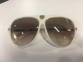 Balmain Aviator Glasses silver-colored-cream synthetic material