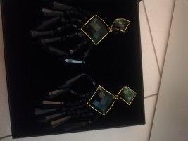 Balmain for H&M Orecchino a clip nero-verde scuro