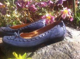 Bama Mary Jane Ballerinas dark blue-steel blue leather