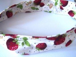 Bandana Polka Dots Punkte Haarband Erdbeeren NEU OVP