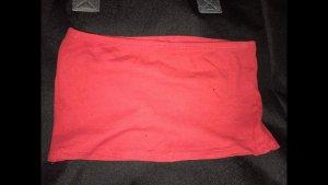 FB Sister Top z dekoltem typu bandeau czerwony