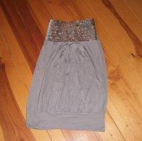 Melrose Top a fascia grigio-argento Viscosa