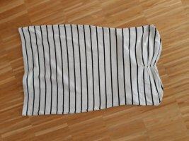 New Yorker Bandeau Dress white-black cotton