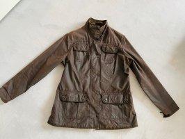 Barbour Waxed Jacket dark brown-brown
