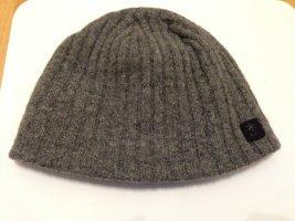 Barts Chapeau en tricot gris-gris foncé laine