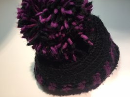 Barts Knitted Hat black-lilac