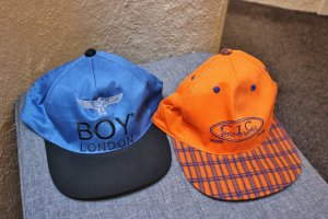 Baseball Cap blue-orange cotton
