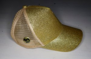 Gorra de béisbol color oro-marrón arena