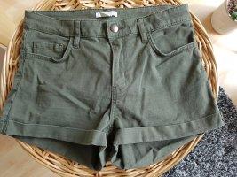 H&M Hot pants olijfgroen-khaki