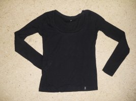 Basic Langarm Shirt, schwarz, Gr.36, Madonna, (60-GV)