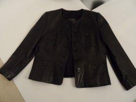 Basic Veste en cuir noir cuir