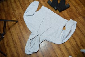 Basic Oversized Cropped Hoodie Gr. 38