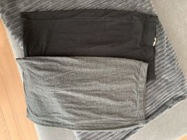 H&M Jupe taille haute gris-gris clair
