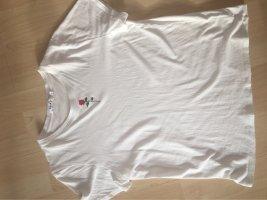 Basic T-Shirt mit Blumendetail