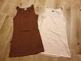Vero Moda Camiseta sin mangas marrón-crema