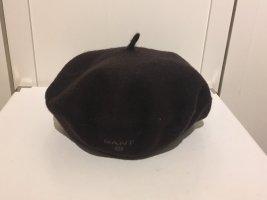 Gant Béret brun foncé-brun noir laine