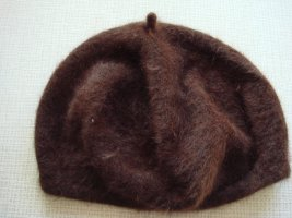 Beret brown wool