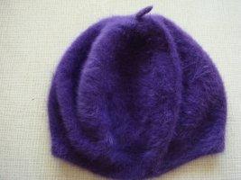 Beret lilac wool