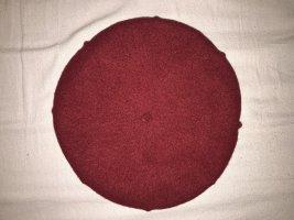 WOOLMARK Berretto basco rosso scuro-carminio