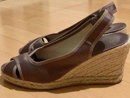 Bata Platform High-Heeled Sandal taupe
