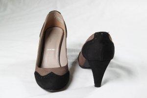 Bata Tacco alto nero-marrone-grigio Pelle