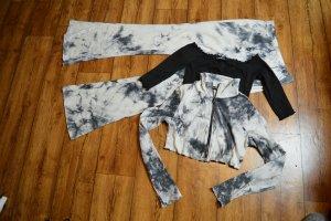 SheIn Chaqueta estilo camisa gris claro-gris