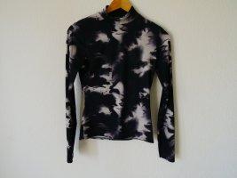 Boohoo Batik shirt wit-zwart