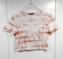 Sheinside Camicia cropped bianco-albicocca