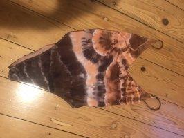 Costume da bagno arancione-marrone-viola
