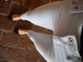 Bau-weiß gestreifte Jeans Größe 34